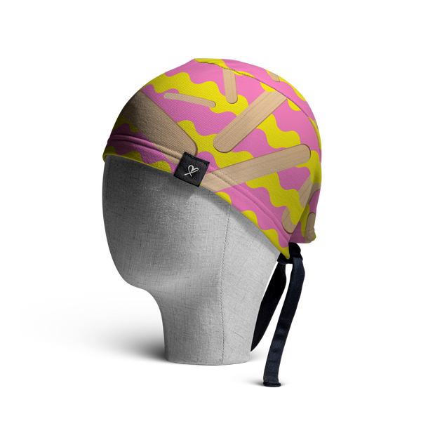 WooCaps Popsicle Scrub Cap Side View