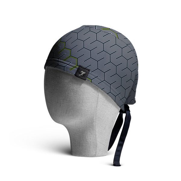 WooCaps Snail Trail Scrub Cap Side View