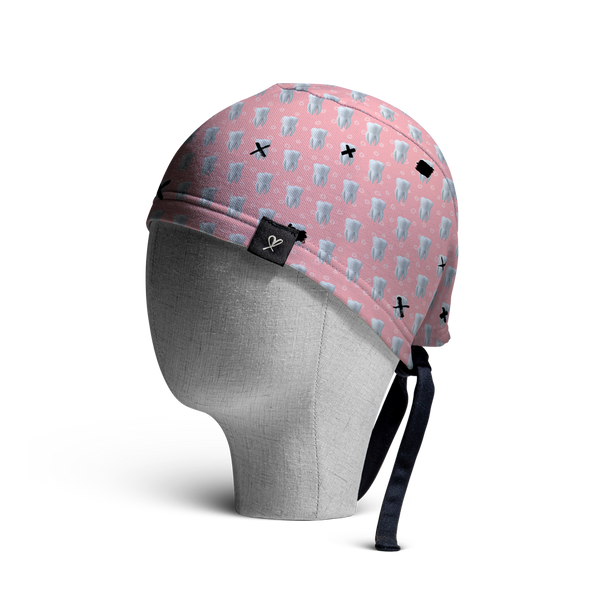 WooCaps Tic Tac Toe Scrub Cap Side View
