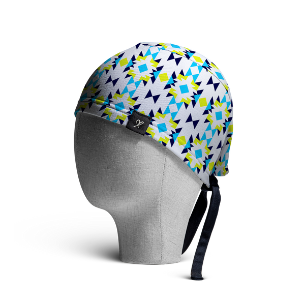 WooCaps Tiles Scrub Cap Side View