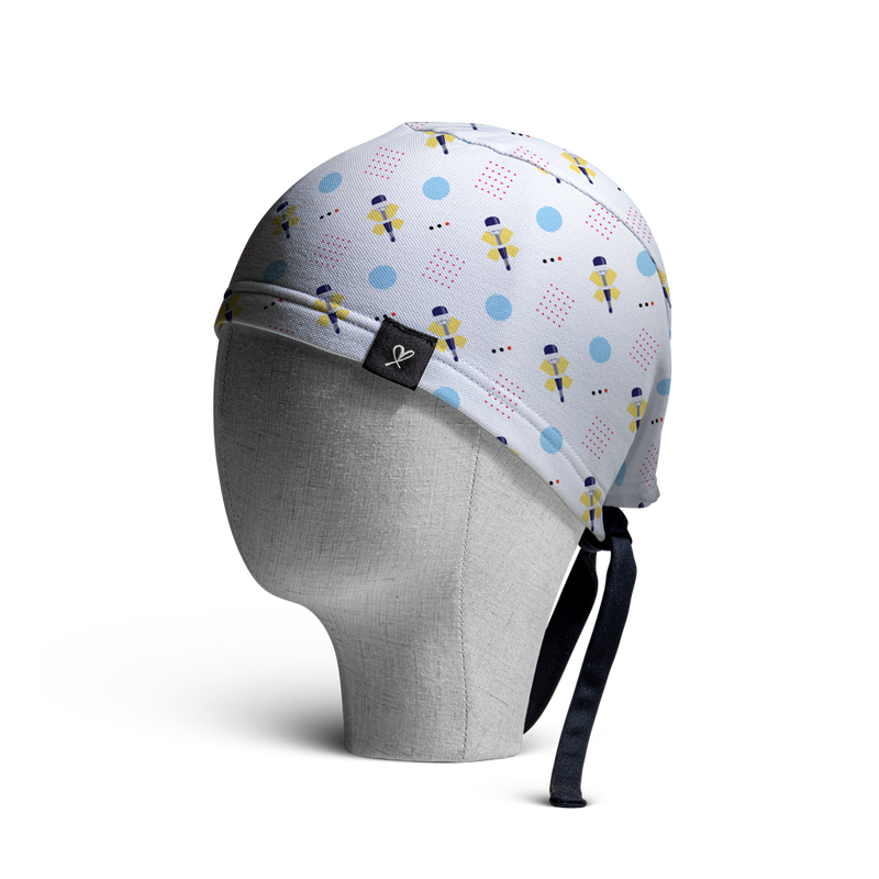WooCaps Trocars Scrub Cap Side View