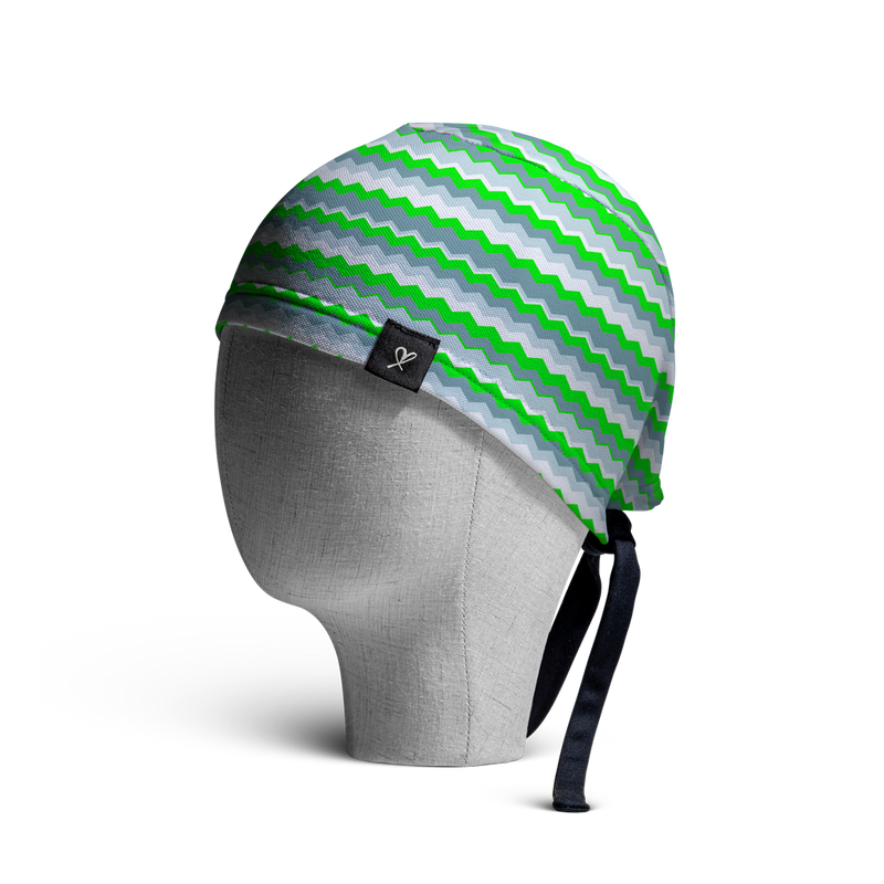 WooCaps Wavelength Scrub Cap Side View