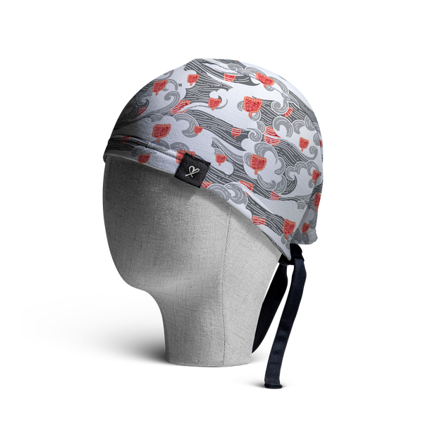WooCaps Windblown Scrub Cap Side View