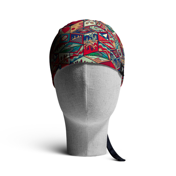 WooCaps Magic Boxes Scrub Cap Front View
