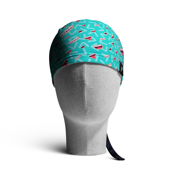 WooCaps Say Cheese Scrub Cap Front View