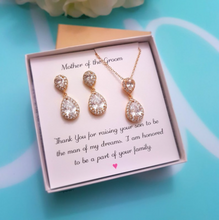 Load image into Gallery viewer, Teardrop pendant gift set
