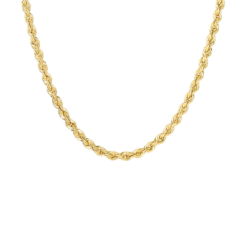 14k Gold Solid Rope Chain