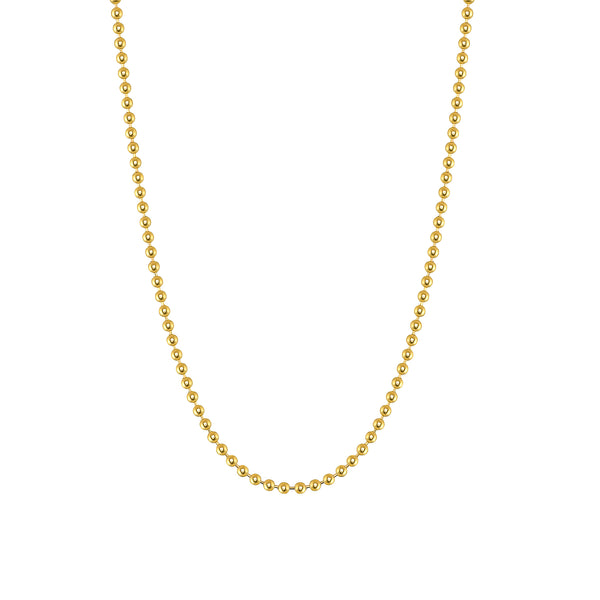 14k 2mm Solid Gold Ball Chain
