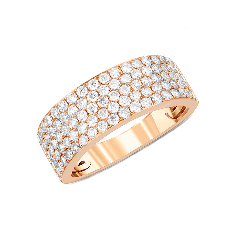 14K 5-Row Diamond Band