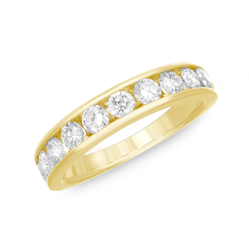 14k Gold Channel Set Diamond Band