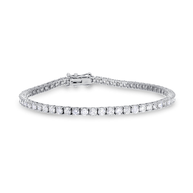 14k Gold 5.00 Carat Total Diamond Tennis Bracelet