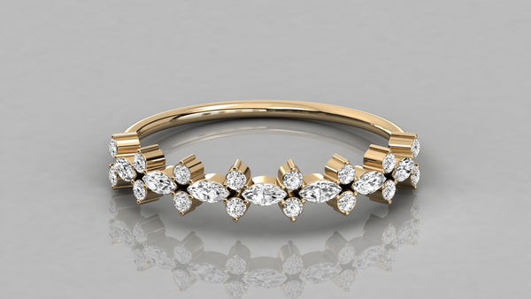 Gold Marquise Diamond Ring