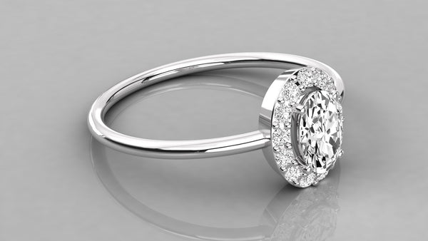 Gold Oval Shaped Diamond Ring