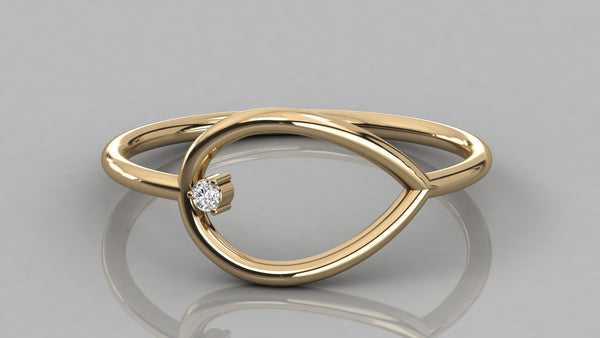 Gold Single Diamond Ring