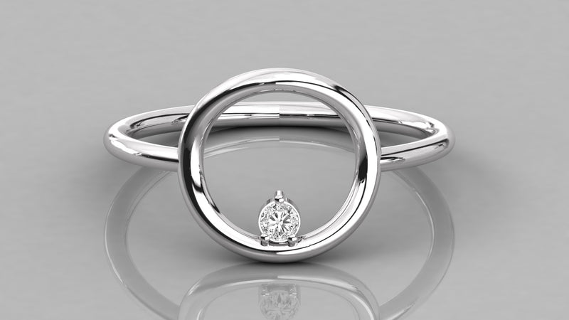 Circle of Life Diamond Ring