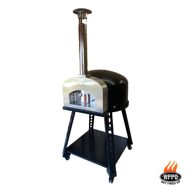 Stainless and Stone Wood Fired Brick Oven (high dome) W/ Stand. - WPPO LLC Direct