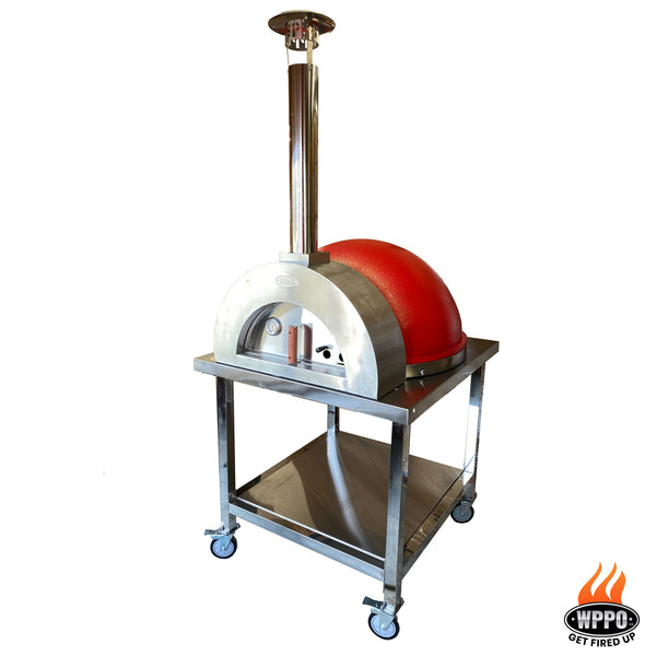 Stainless and Stone Wood Fired Dome Brick Oven W/ Stand. - WPPO LLC Direct