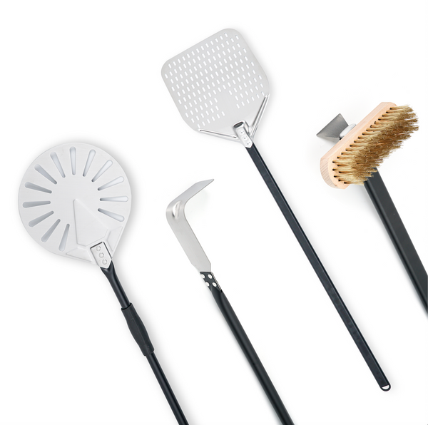 WPPO Llc Pro Aluminum 4 Piece wood fired pizza oven utensil Kit - WPPO LLC Direct - Wood Fired Pizza Ovens