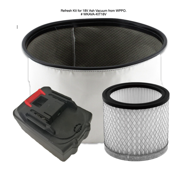 18V Ash Vacuum Refresh Kit from WPPO. - WPPO LLC Direct - Wood Fired Pizza Ovens