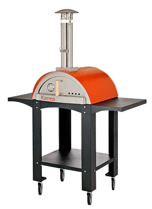 Wood Fired Pizza Oven, Karma 25 - Colored ovens with stand. - WPPO LLC Direct