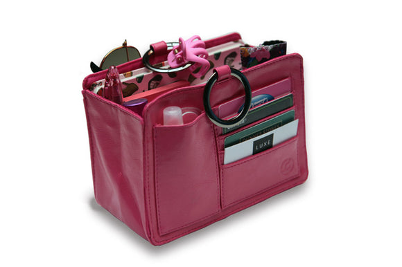 pouchee classic faux leather bag organiser