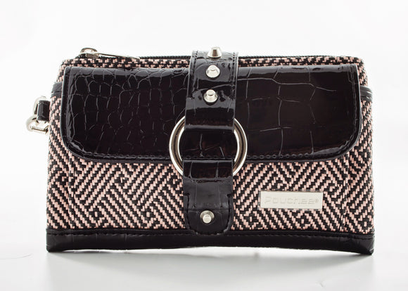 Kash & Karre Purse - Black Polly Straw