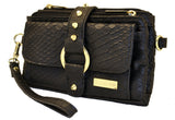 Purse - Kash & Karee - Black Matte Snake