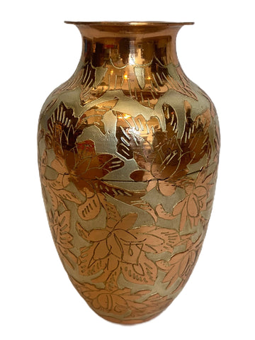 Copper Vase with Silver