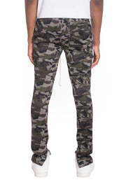 NEUTRAL CAMO TRACK PANTS- WHITE