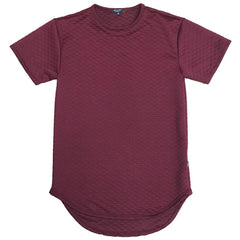 QUILTED TEE- BURGUNDY