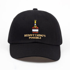 Henny  bottle embroidery Dad Hat men women Baseball Cap adjustable Hip-hop snapback cap hats