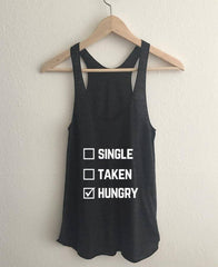 Single Taken Hungry Tri-Blend Racerback Tank