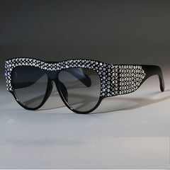 Square Sunglasses Women Oversized Rhinestone Frame Bling Diamond Glasses Fashion Shades