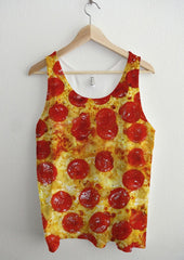 Pepperoni Pizza Full All Over Print Unisex Tank Top