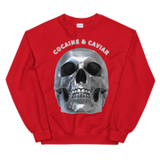 CHROME SKULL HEAD CREWNECK