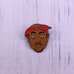 All Eyez On Me 2Pac Tupac Hat Pin California West Coast 90s Hip Hop Rapper Brooch