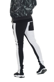 SLICE TRACK PANTS- BK/WHITE