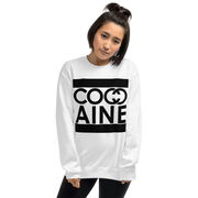 LADIES COCAINE WHITE CREWNECK