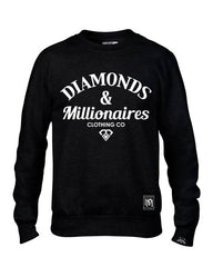 DIAMOND & MILLIONAIRES CREW-NECK SWEATSHIRT