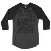 DIAMOND CUTTER  RAGLAN TSHIRT