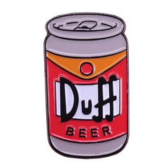 Duff beer badge Simpson pin beer cans brooch art backpack decor alcohol addict gift
