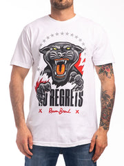REASON NO REGRETS CREW TEE IN WHITE