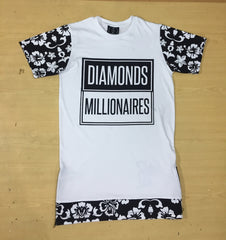 DIAMONDS & MILLIONAIRES FLOWER LAYERED SHIRT