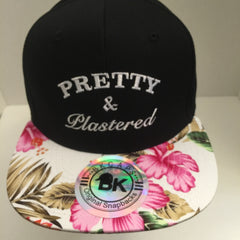 PRETTY & PLASTERED FLOWERED SNAPBACK