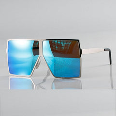 Oversized Square Sunglasses Women Metal Frame Vintage Shades UV400 Brand Glasses Fashion Oculo 46801