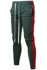 HOLIDAY TRACK PANTS- GREEN/ RED