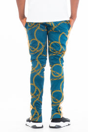 CHAIN TRACK PANTS- TEAL