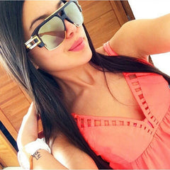Sturdy Frame Square Retro Sunglasses Oversized Men Women Shades UV400 Vintage Glasses 45799