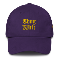 THUG WIFE DAD'S HAT GOLD