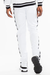 DIAMOND TAPE TRACK PANTS- WHITE